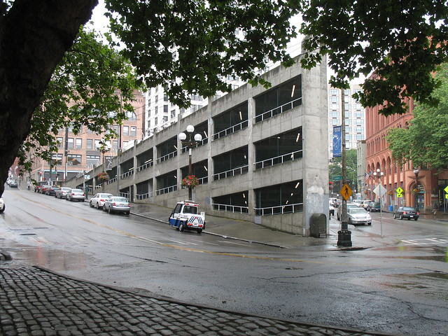Parking garage in seattle built into hill parking garage Built in seattle