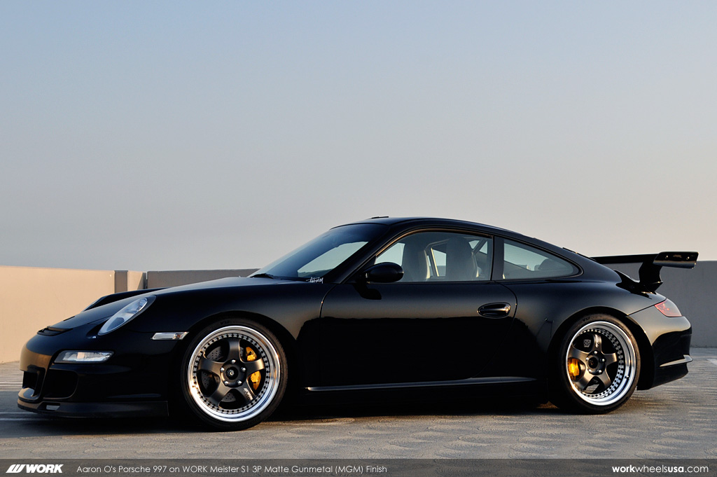 Aaron O's Porsche 997 on WORK Meister S1 3P Matte Gunmetal (MGM) Finish