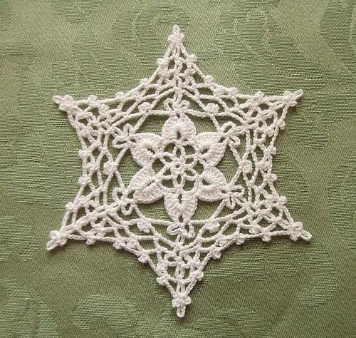 Free Irish Crochet Snowflake Pattern : Crochet Snowflake Flickr - Photo Sharing!