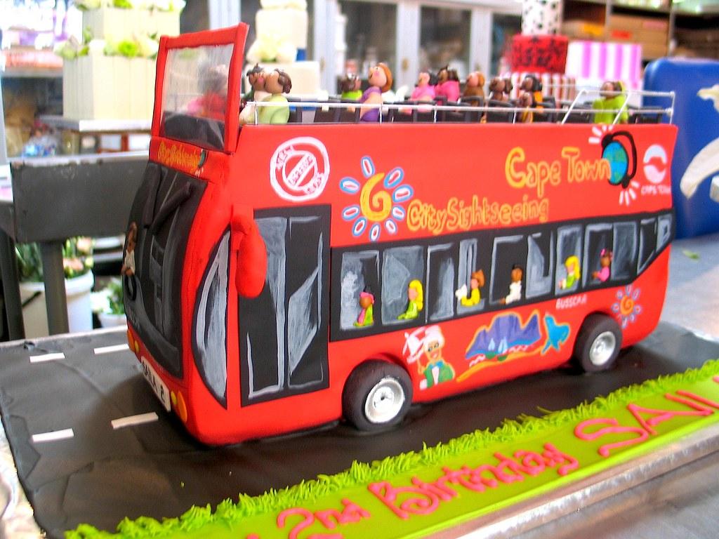 Red Bus Birthday Cake