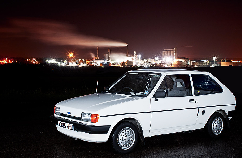 ford fiesta mk2 my first car taken infront of the bury. Black Bedroom Furniture Sets. Home Design Ideas