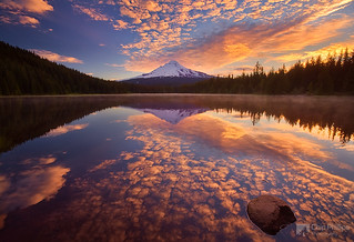 Mackerel Sky, Trillium Lake, Horizontal | by Chip Phillips