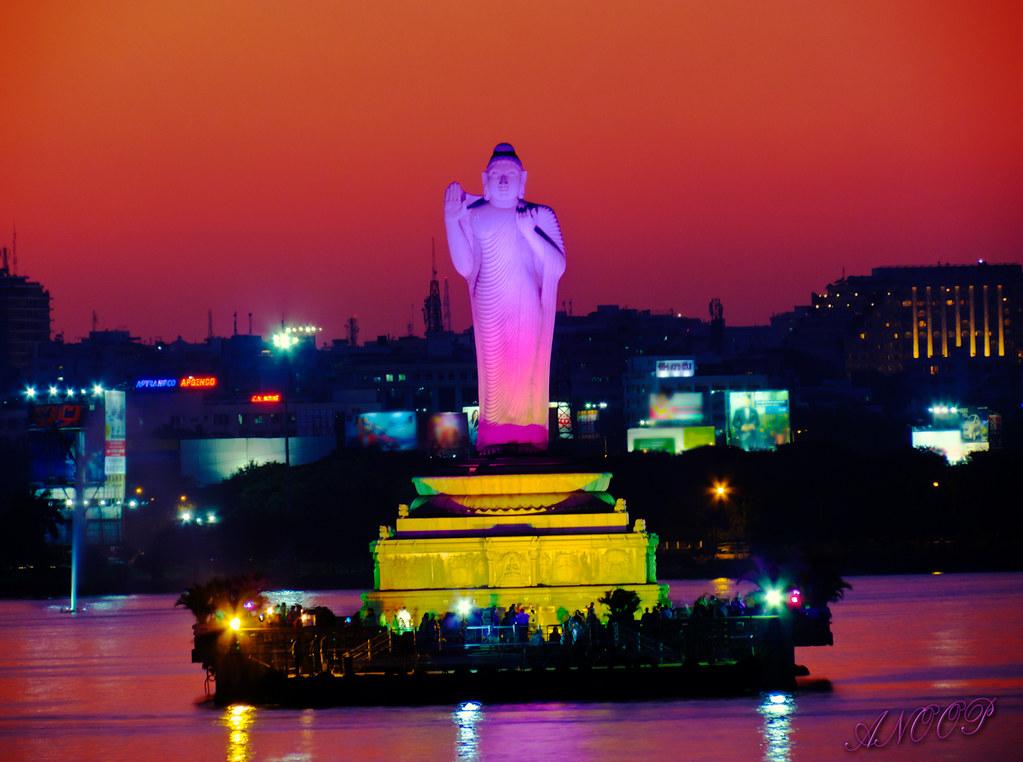 Buddha Statue At Husain Sagar Hyderabad Hdr An 18