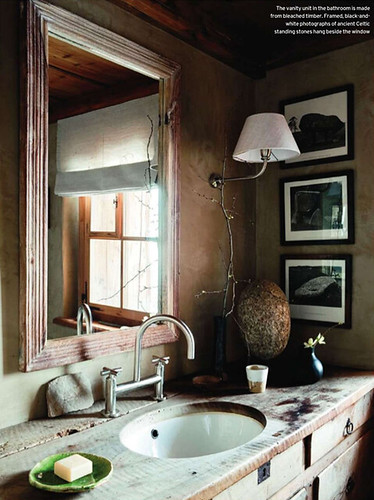 House and Garden UK / Andreas von Einsiedel {vintage rustic traditional primitive modern bathroom} | by recent settlers