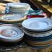 the dinner plates