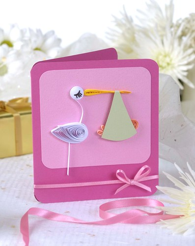 Quilled stork card | by all things paper