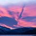 Amazing sunset over the lake tonight