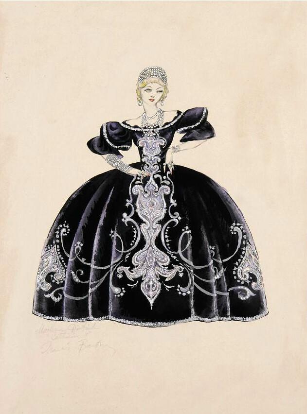 The Scarlet Empress 1934 Costume Designs For Marlene Die
