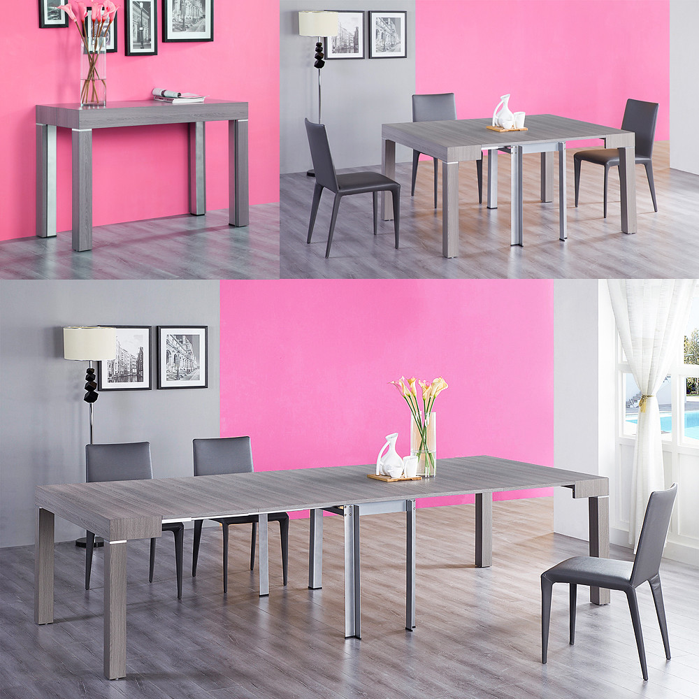 table salle a manger console extensible 3 metres stacy neuf ebay. Black Bedroom Furniture Sets. Home Design Ideas