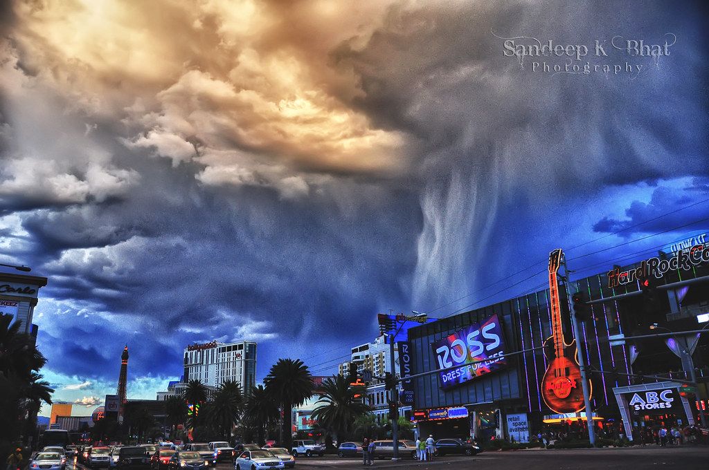 Las Vegas Storm Storm Clouds As Seen In Front Of The