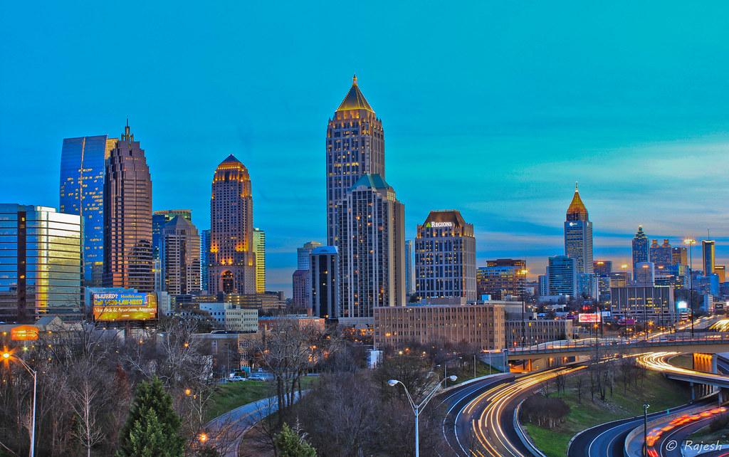 Atlanta Skyscrapers I Have Been Living In Atlanta For