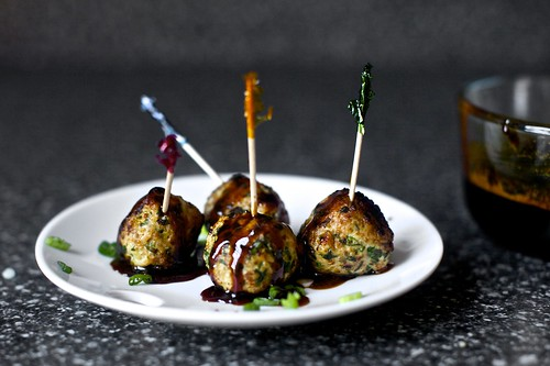 scallion meatballs with soy-ginger glaze | by smitten kitchen