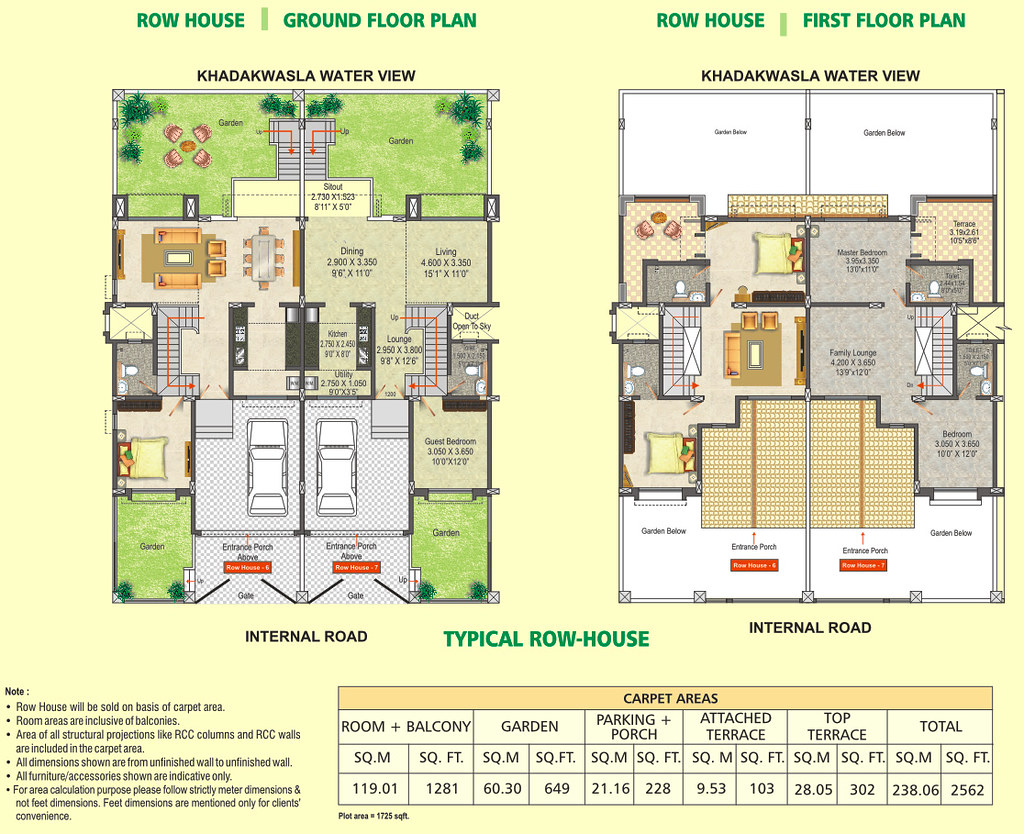Row house floor plan dsk meghmalhar phase 2 1 bhk 2 b for 2bhk plan homes