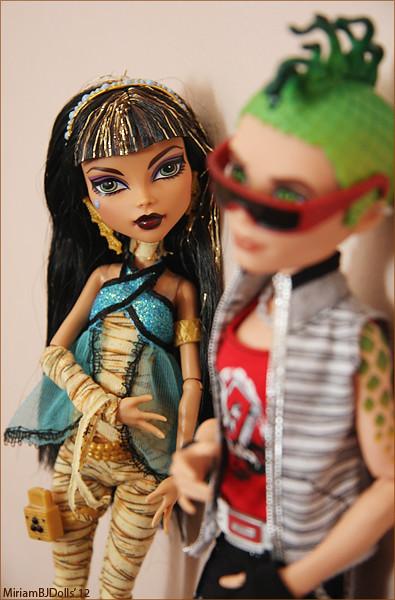 Cleo de nile and deuce gorgon monster high miriam flickr - Monster high deuce gorgon ...