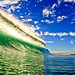 Green Wave Blue Sky