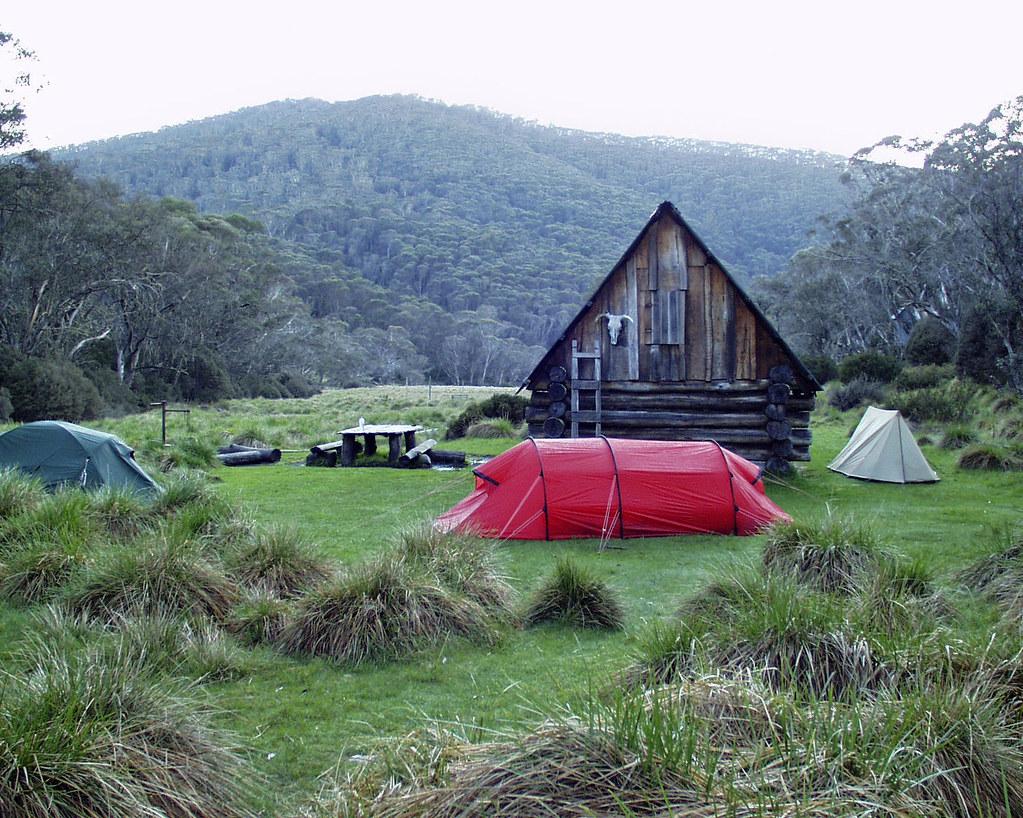 Camping at Dibbins hut, Alpine National Park | Dibbins Hut