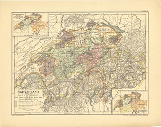 Section XLIV Map page of The Swiss Confederation from the Historical atlas of modern Europe from the decline of the Roman empire : comprising also maps of parts of Asia and of the New world connected with European history | by uconnlibrariesmagic