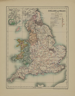 Section XX Map page of England and Wales under the House of Lancaster from Part IV of Historical atlas of modern Europe from the decline of the Roman empire : comprising also maps of parts of Asia and of the New world connected with European history | by uconnlibrariesmagic