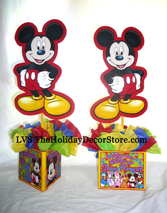 Customized mickey mouse birthday party supplies decor cent