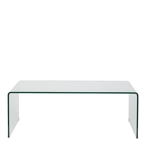 Mesa de centro de cristal templado for Centro de mesa de cristal