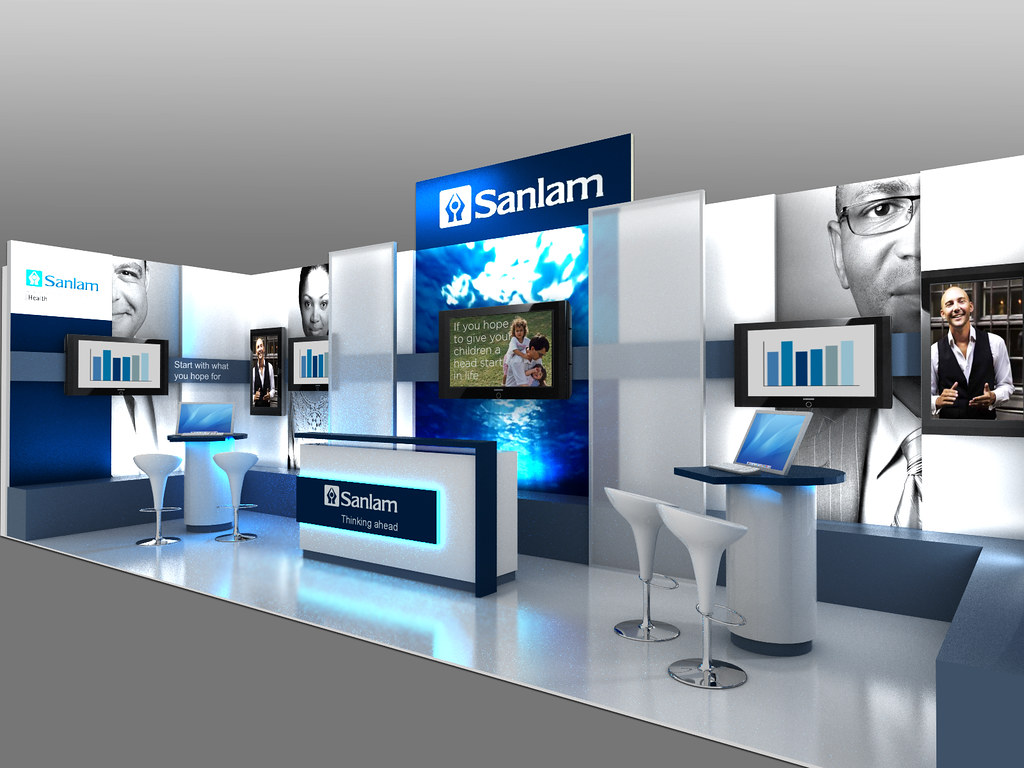 Exhibition Stand Design Sketchup : Sanlam health exhibition stand for bhf congress front pe