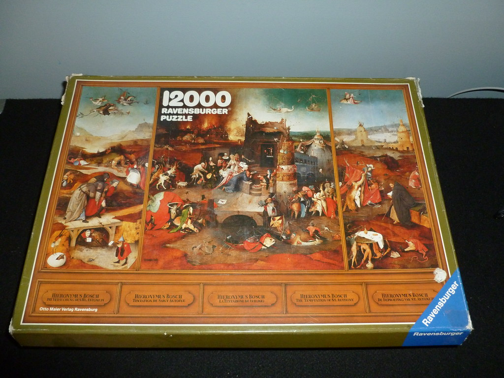 12000 piece puzzle the temptation of st anthony by hier for Custom 5000 piece puzzle