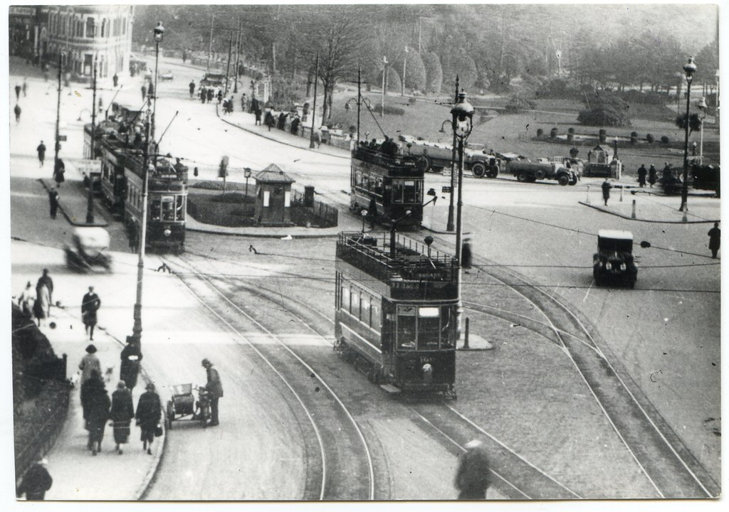 Trams in the Square, Bournemouth, Dorset | Rubber stamped in… | Flickr