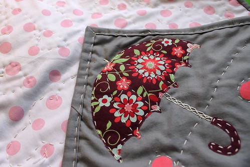 Umbrella from heart mini quilt | by DanaK~WaterPenny