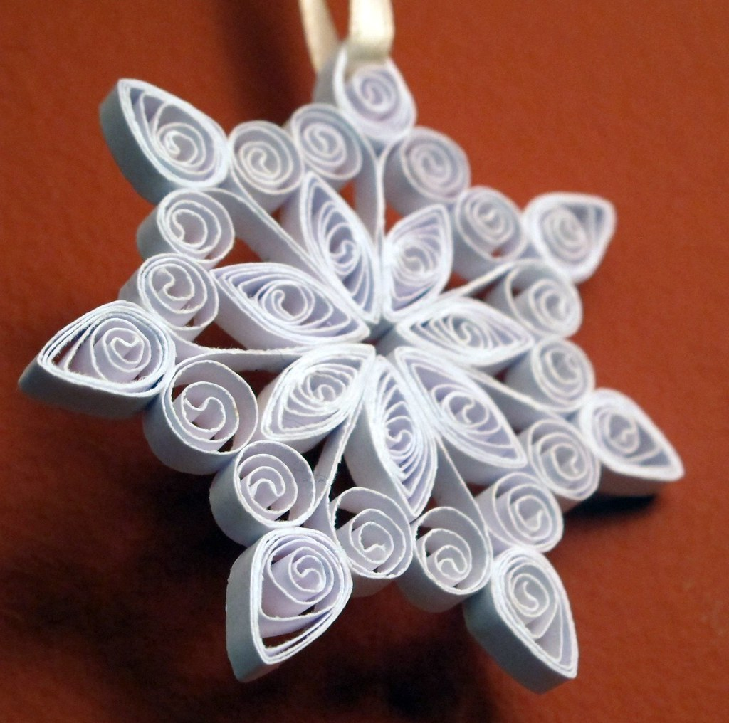 Quilled Snowflake 2 Join Me At Www Quillingcafe Com And Flickr