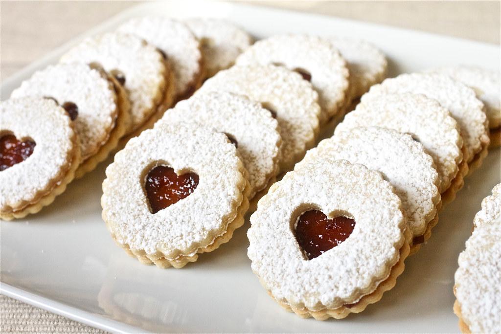 Pecan Linzer Cookies with Raspberry Filling   Tara   Flickr