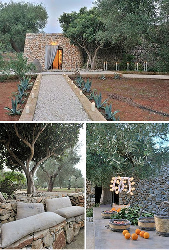 a house surrounded by olive trees | by the style files