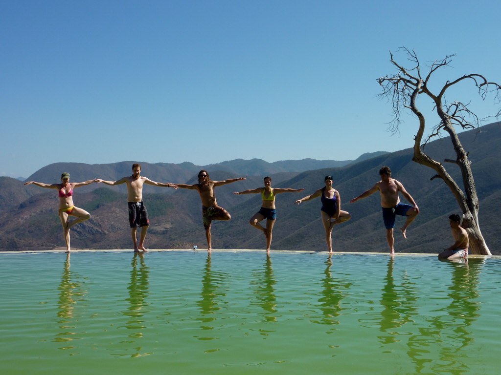 Warrior Pose at 'Hierba de Agua' in Oaxaca Running Buffalo Journeys Flickr
