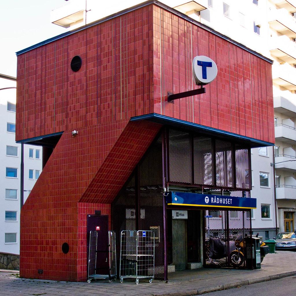 Architect R 229 Dhuset Metro Station Stockholm Architect Sl