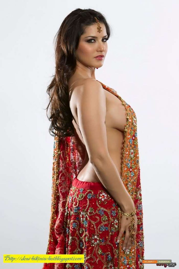Sunny Leone Make A Nude Saree-3  Desi-Bikinis-Hot -6694