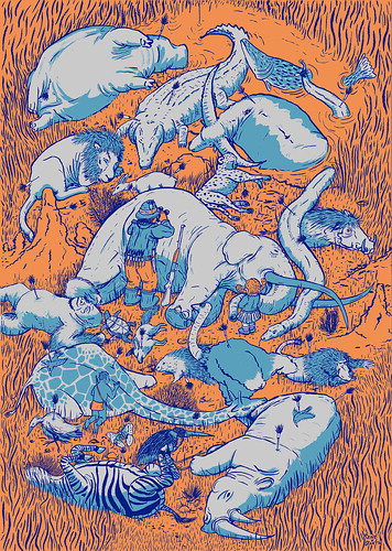 »Sedated African Animals« Poster | by René Barth