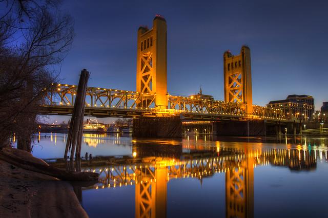 Sunrise Over Sacramento 39 S Tower Bridge Flickr Photo Sharing