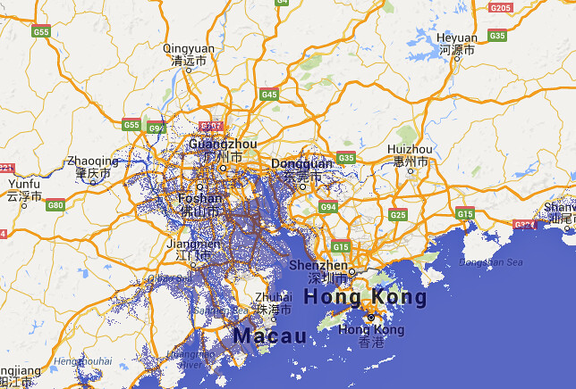 guangzhou sea level rise visualisation