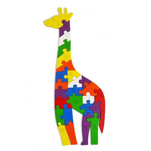 Lắp ghép đồ chơi gỗ - con hươu cao cổ