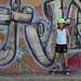 My daughter on a RipStik in San Juan del Sur, Nicaragua
