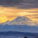 Mt Rainier at Dusk on Christmas Eve