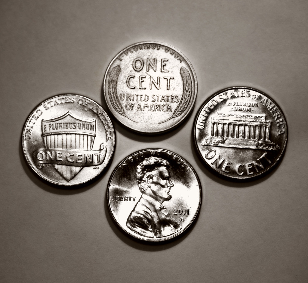 Four Cents A Penny Is One 1 100 Of A Dollar And The