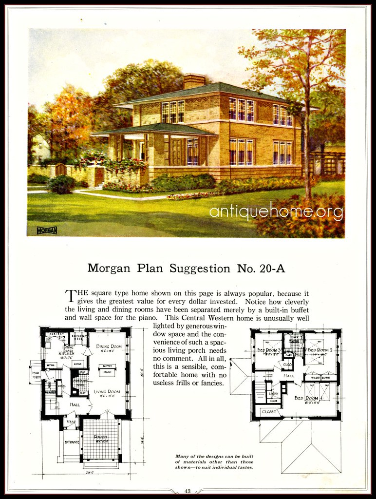 Prairie school home daily bungalow for Prairie school house plans