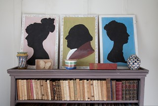 Duncan Grant dressing room silhouettes | by CharlestonTrust