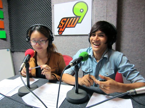Loy9 Radio - Anny and Pheap in the studio | by United Nations Development Programme