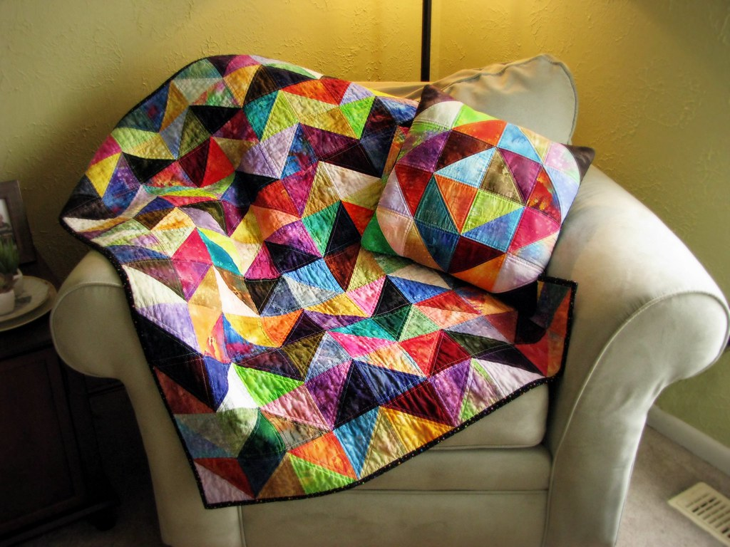 Chevron Half Square Triangle Values Quilt and Pillow Flickr