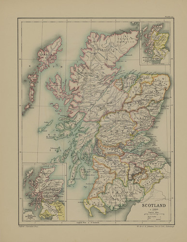 Section XXV Map Page of Scotland from Part III of Historical atlas of modern Europe from the decline of the Roman empire : comprising also maps of parts of Asia and of the New world | by uconnlibrariesmagic