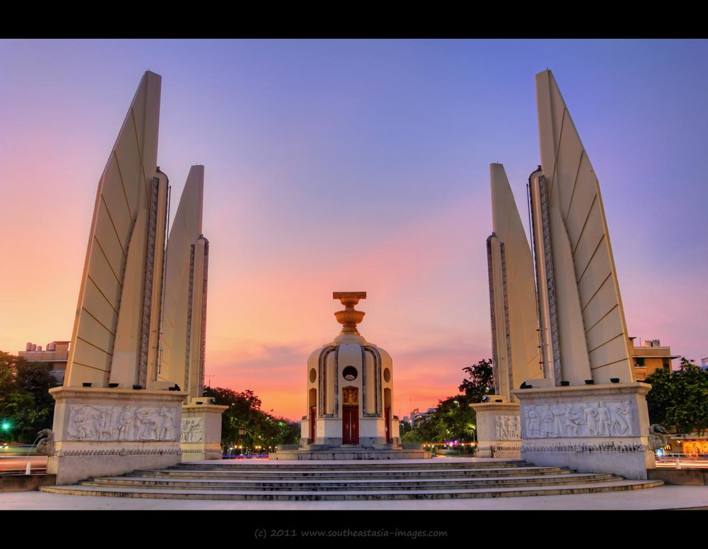 Democracy Monument (Plate 4)  Bangkok  Democracy ...