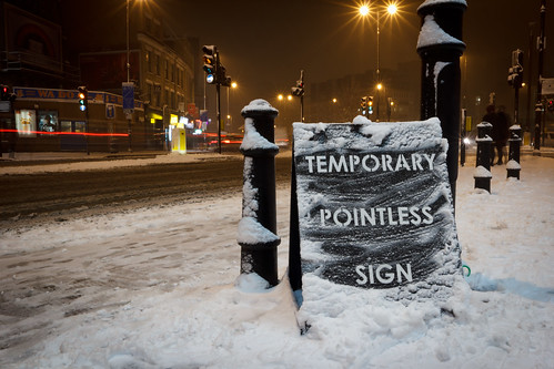 "Mobstr - ""Temporary Pointless Sign"" 