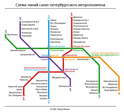 линий санкт-петербургского