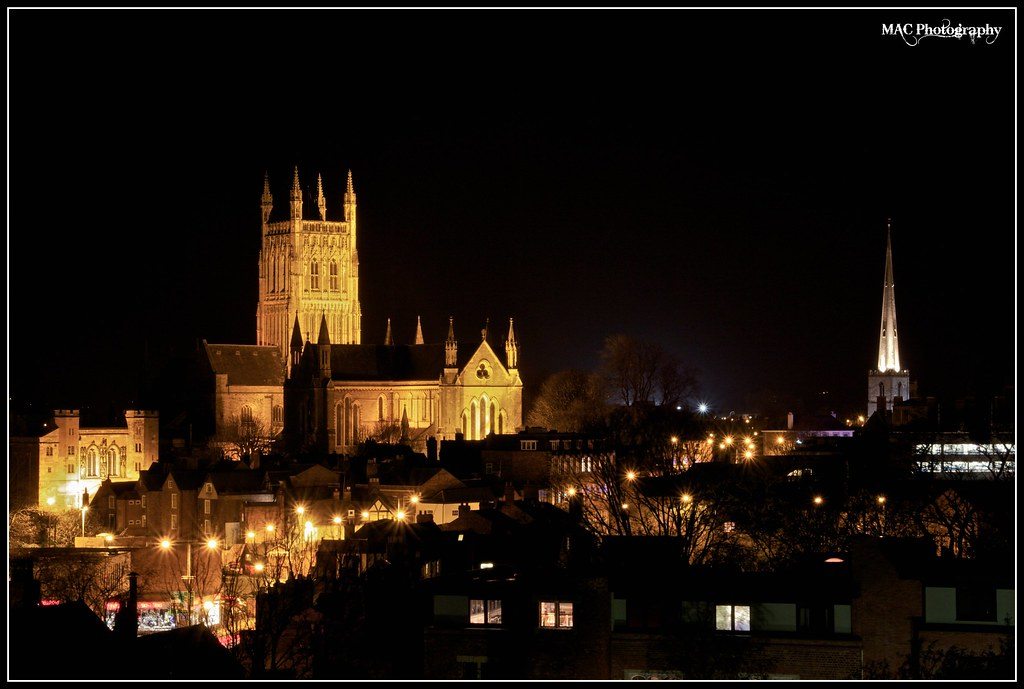 Worcester Cathedral At Night Www Mac Photography Co Uk